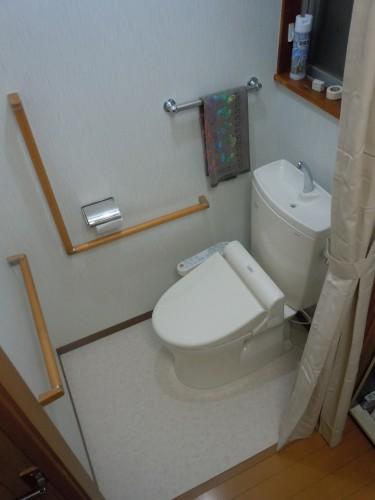【新百合ヶ丘エリア】川崎市麻生区にあるリフォーム工房アントレのトイレのバリアフリーリフォーム事例