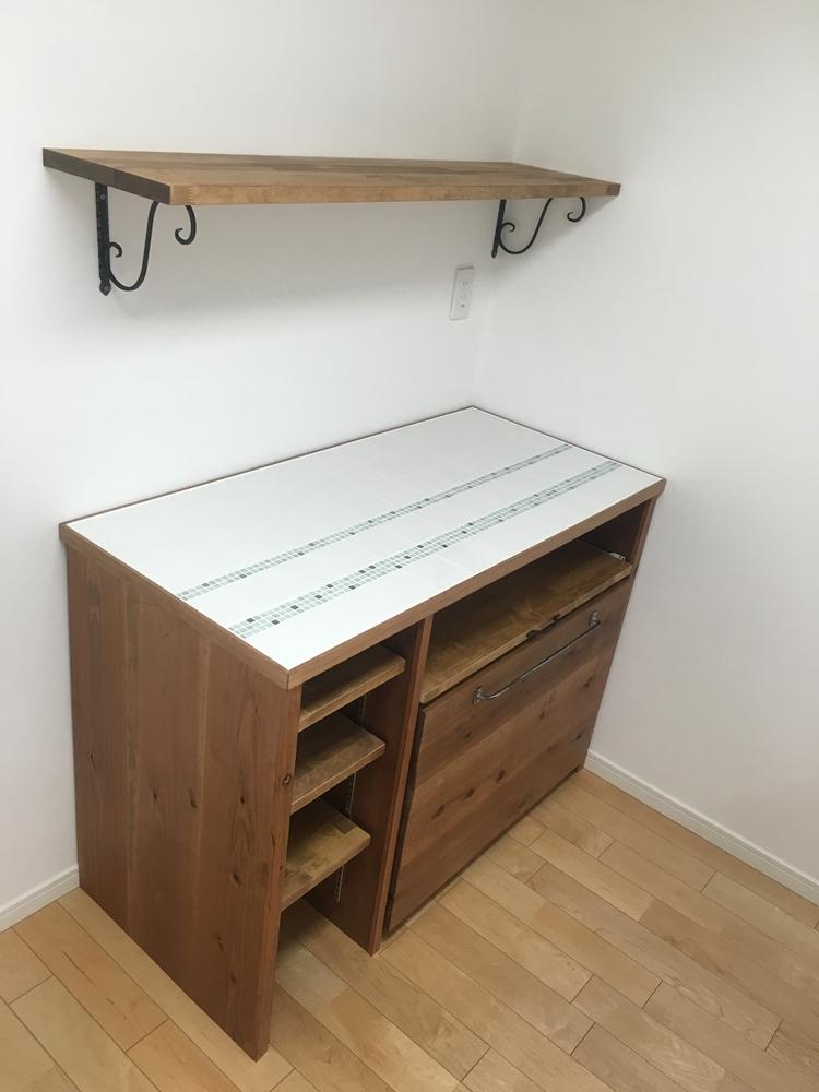 手作りキッチンカウンター、オーダー家具の写真02