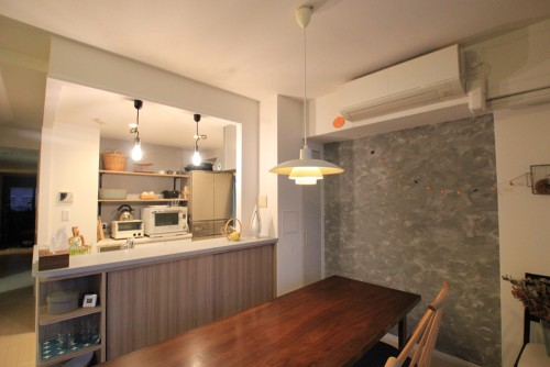 川崎市麻生区にあるリフォーム工房アントレのおしゃれなキッチン家具工事のリノベーション施工事例04_01