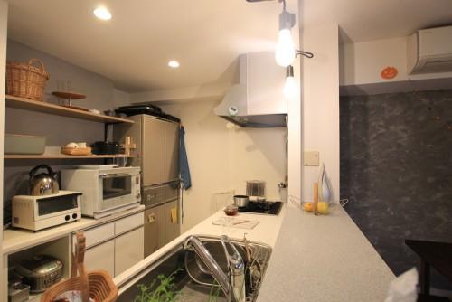 川崎市麻生区にあるリフォーム工房アントレのおしゃれなキッチン家具工事のリノベーション施工事例04_05